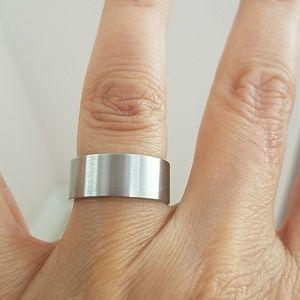 Other - New 8mm Plain matt Finish Wedding Band size 6